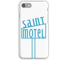 blue motel iPhone Case/Skin