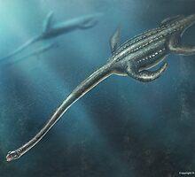Elasmosaurus Restored by Thedragonofdoom