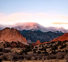 Clouds over Pikes Peak by RondaKimbrow