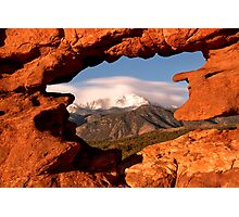 Framing of Pikes Peak Photographic Print