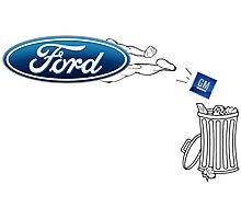 Ford vs GM Photographic Print