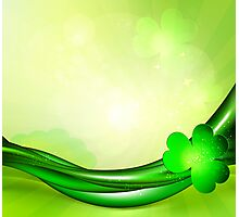 St. Patrick's background Photographic Print