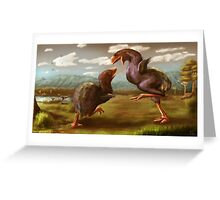 Gastornis Fight Greeting Card