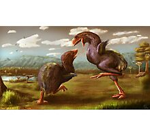 Gastornis Fight Photographic Print