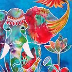 Colourful Indian Elephant by Almeta