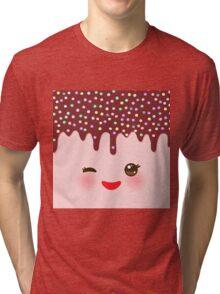 Kawaii cute face Tri-blend T-Shirt