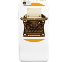 Happiness is a warm pun iPhone Case/Skin
