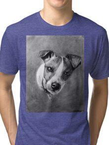 Dog Portrait Commission 1 Tri-blend T-Shirt