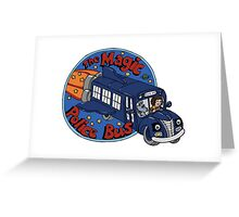 The Magic Police Bus Greeting Card