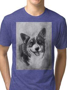 Dog Portrait Commission 2 Tri-blend T-Shirt