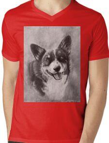 Dog Portrait Commission 2 Mens V-Neck T-Shirt