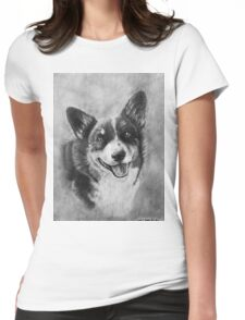 Dog Portrait Commission 2 Womens Fitted T-Shirt