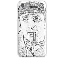 Genius in a Deer Stalker iPhone Case/Skin