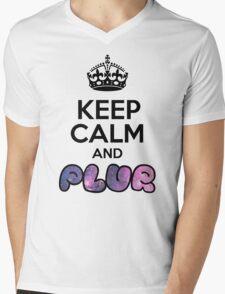 Keep Calm And PLUR ☆ Mens V-Neck T-Shirt