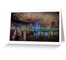 Docklands At Night Greeting Card