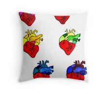 Anatomically Rainbowed Throw Pillow