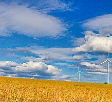 Painting with light: Farmland and wind turbines by Bernd F. Laeschke