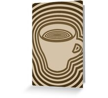 dizzy coffee Greeting Card