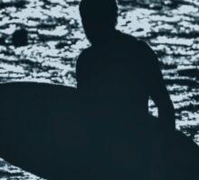 Blue Surfer Sticker