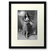 Immortal Quest - Black & White version Framed Print