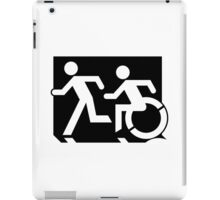 Accessible Means of Egress Icon and Running Man Emergency Exit Sign, Left Hand iPad Case/Skin