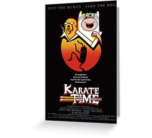 Karate Time Poster Greeting Card