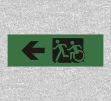 Accessible Means of Egress Icon and Running Man Emergency Exit Sign, Left Hand Arrow by Egress Group Pty Ltd