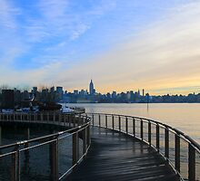 Walkway To Pier C Hoboken NJ by pmarella