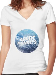 Arctic Monkeys - Clouds Women's Fitted V-Neck T-Shirt