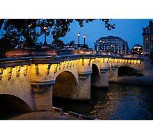 Pont Neuf Bridge - Paris, France Photographic Print