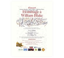 HOMMAGE A WILLIAM BLAKE -   CONCERT NERAC FRANCE 2014 Art Print