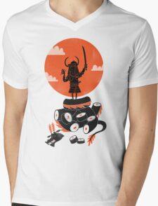 Samurai Sushi Mens V-Neck T-Shirt