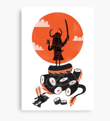 Samurai Sushi Canvas Print
