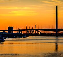 Bolte Bridge Sunset by Russell Charters