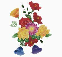 flowers 2 One Piece - Short Sleeve