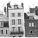Crooked Houses B&W, Hon Fleur, France by Claire McCall