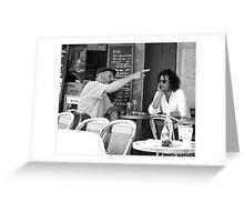 Serious Conversations, Paris Greeting Card