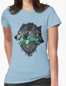 Weird Dog (Green) Womens Fitted T-Shirt