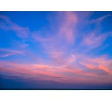 The Resolution of the Dream - The sky at the sunset. Photographic Print