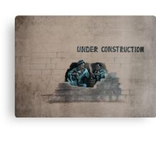 under construction 2014 Canvas Print