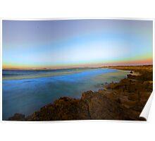 Crayfish Bay at dusk Poster