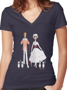 Holiday with Mary Women's Fitted V-Neck T-Shirt