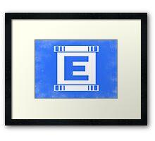 Blue Bomber - Minimalist Framed Print