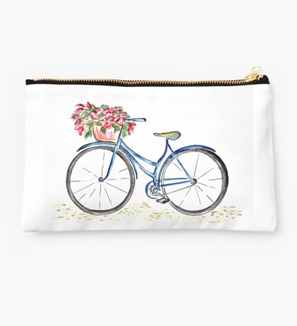 Spring time bicycle Studio Pouch