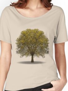 tree isolated over white Women's Relaxed Fit T-Shirt