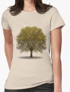 tree isolated over white Womens Fitted T-Shirt