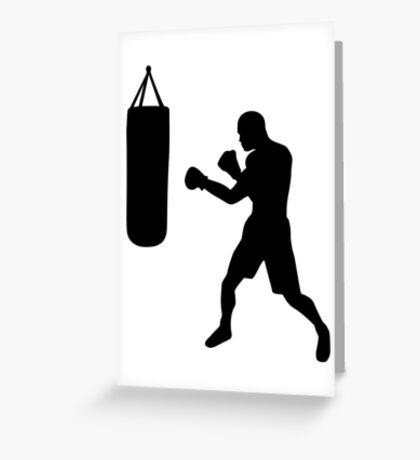 Boxing punching bag Greeting Card