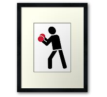 Boxing fight Framed Print