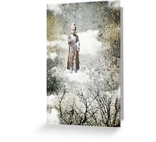 Buddah in the clouds Greeting Card