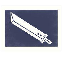 Buster Sword - Minimalist  Art Print
